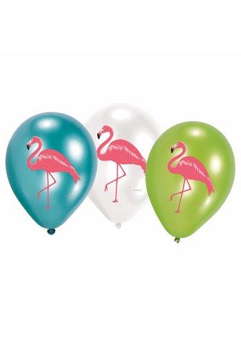 Ballonnen Flamingo Paradise - 6 stuks - 27,5cm