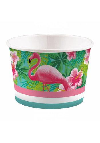 Ice Bowls Flamingo Paradise - 270ml - 8 stuks