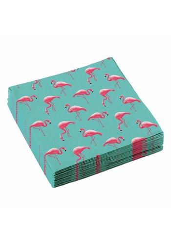 Servetten Flamingo Paradise - 33x33cm - 20 stuks