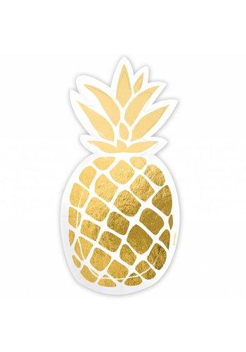 Bordjes Golden Pineapple Shape - 18cm - 6 stuks