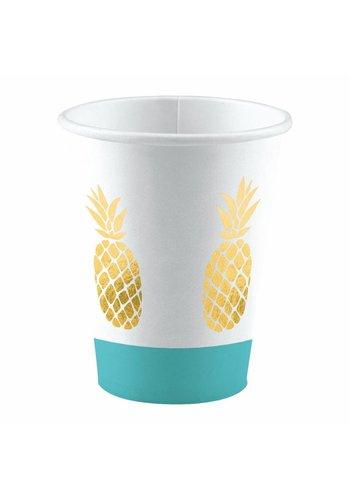 Bekertjes Golden Pineapple - 250ml - 8 stuks