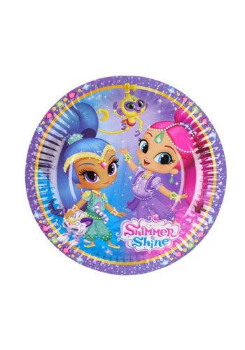 Bordjes Shimmer & Shine - 18cm - 8 stuks