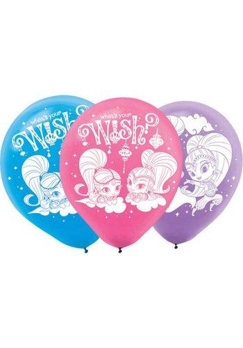 Ballonnen Shimmer & Shine - 22,8cm - 6 stuks
