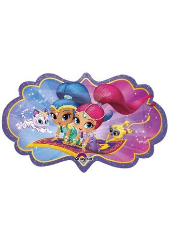 Folieballon Shape Shimmer & Shine - 68x40cm