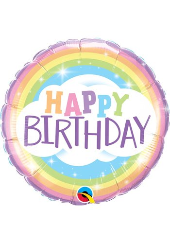 Folieballon Birthday Rainbow - 46cm