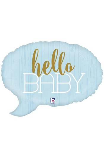 Folieballon Shape - Hello Baby Blue - 61cm