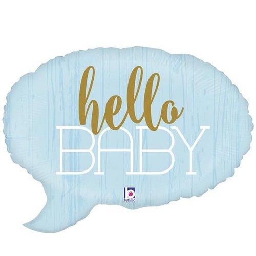 Folieballon Shape - Hello Baby Blue - 61cm