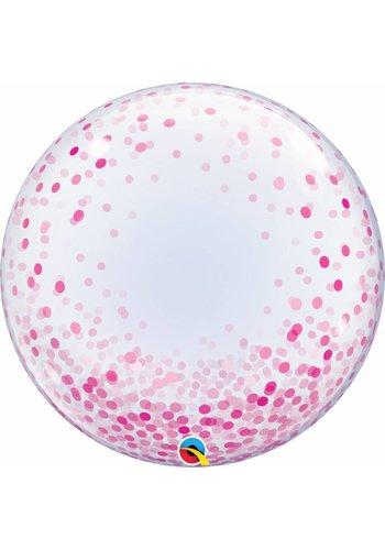 Deco Bubble Confetti Dots Pink- 55cm