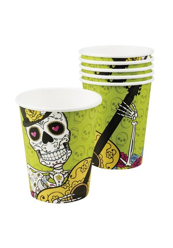 Bekertjes Day of the dead - 250ml - 6 stuks