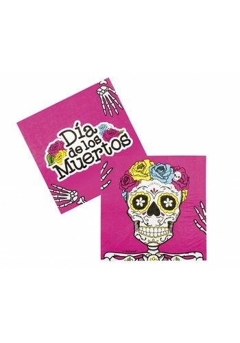 Servetten Day of the dead - 33x33cm - 12 stuks