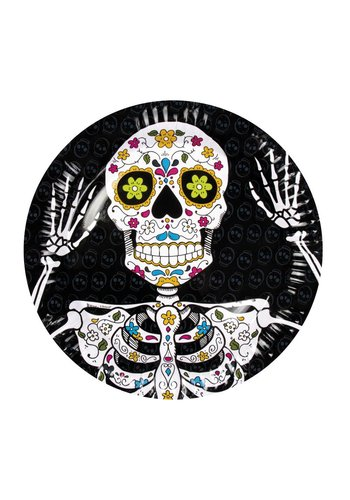 Bordjes Day of the dead - 23cm - 6 stuks