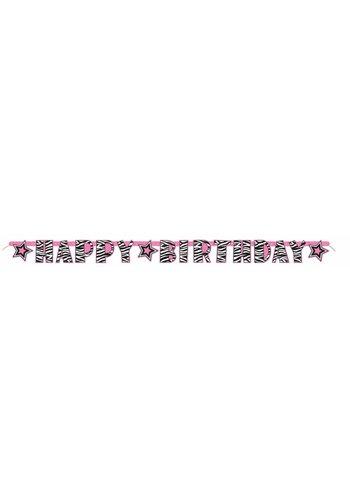 Zebra letter banner - Happy Birthday