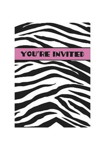 Zebra Uitnodigingen - 8 stuks