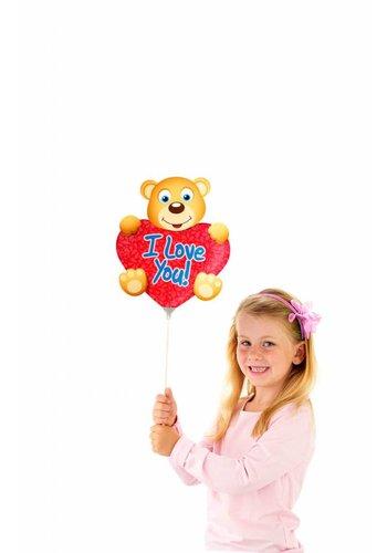 Mini luchtgevuld Folieballonnen - Beertje I Love You