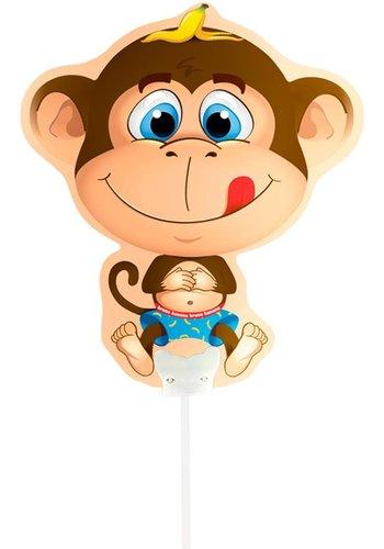Mini luchtgevuld Folieballonnen - Aapje
