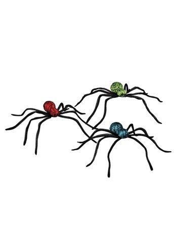 Glanzende spin 3 kleuren ass. - 35x45cm