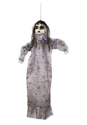 Decoratie pop - Zombie meisje - 52cm