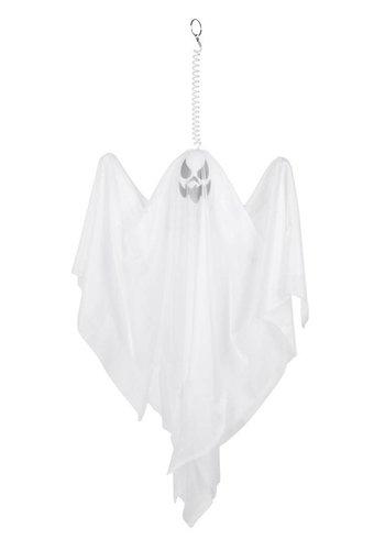 Decoratie pop - spookje wit - 50cm