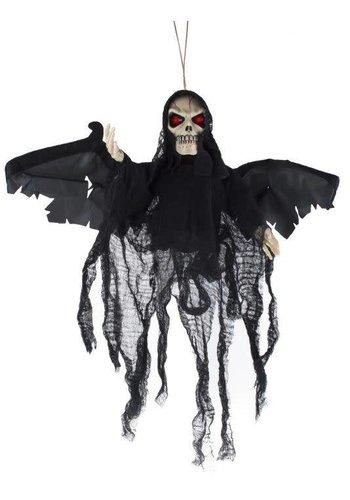 Decoratie pop - Vliegend Skelet - 70cm