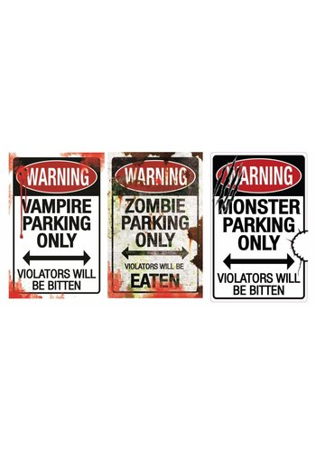 Metal Sign Parking Only - 43x28cm