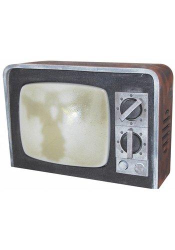 Krakende tv met beeld & geluid - 31x22cm
