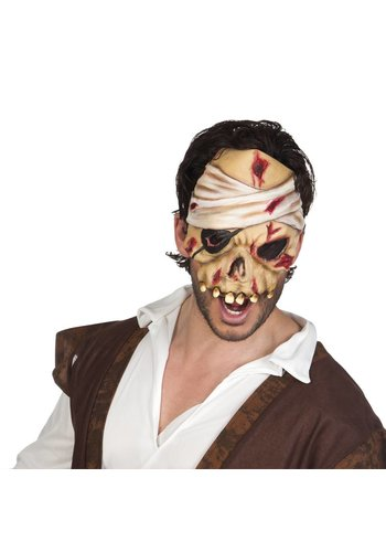 Latex Halfmasker - Piraat