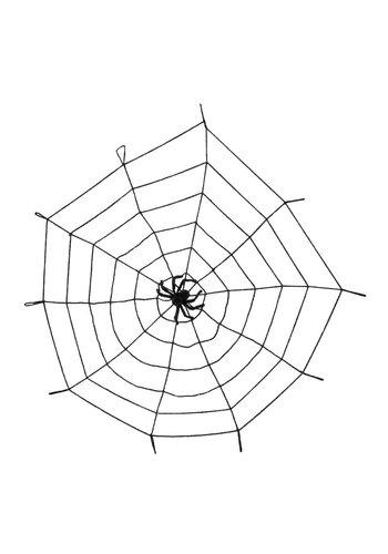 Spinnenweb Elastisch met Spin - 150cm