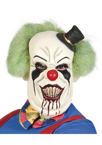 Latex Masker - Horror clown de luxe met haar