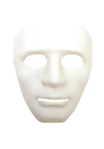 Masker White Face - Plastic