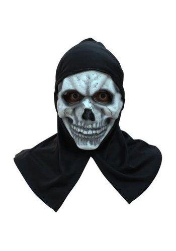 Latex Masker - Skull met kap