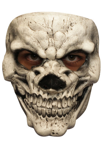 Latex Masker - Skull White