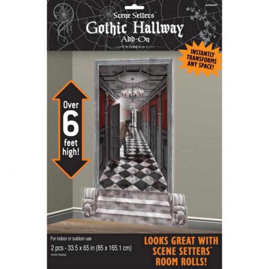 2 Scene Setter-add-ons Gothic hal - 165 x 85 cm-1