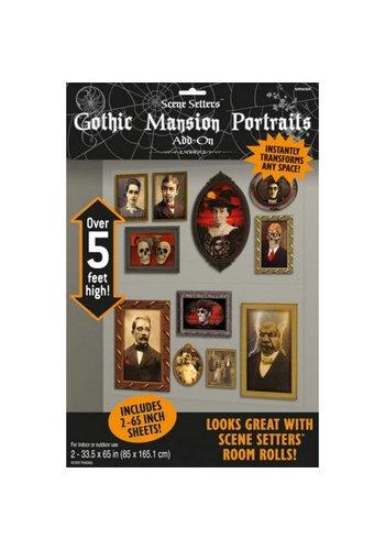 2 Scene Setter add-ons Gothic portretten - 165 x 85 cm