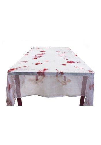 Polyester tafelkleed Bloody de luxe - 150 x 180 cm