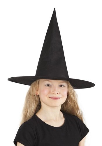 Kinderhoed Heks Ursula - zwart
