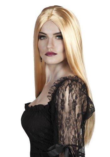 Pruik Witch - blond