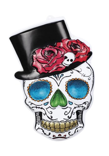 PVC wanddecoratie Mr Day of the dead - 66 x 44 cm