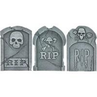 """15"""" Tombstone ASS Skulls & RIP - 39 X 26 X 13 CM"""