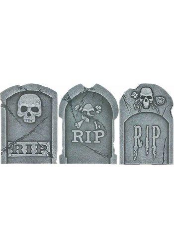 Tombstone Skulls & RIP - 39 X 26 X 13 CM