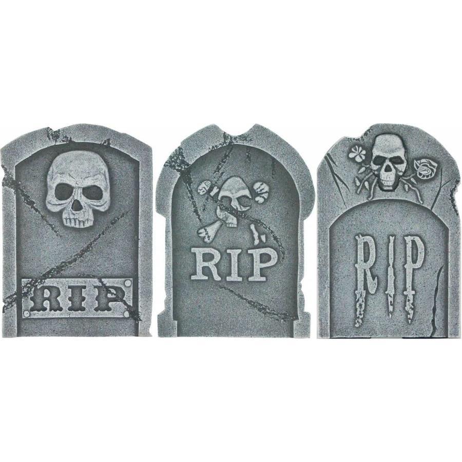 """15"""" Tombstone ASS Skulls & RIP - 39 X 26 X 13 CM-1"""