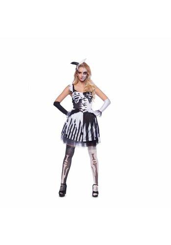 Skelet Clown zwart/wit