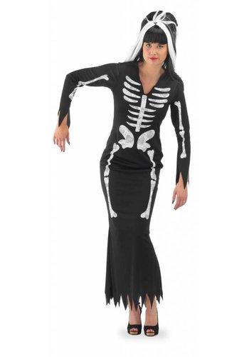 Skeleton jurk Zwart