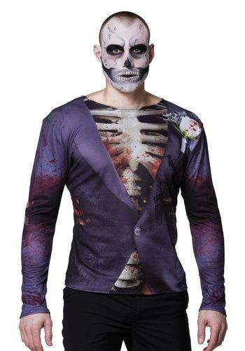Fotorealistisch shirt Gory groom - M/L