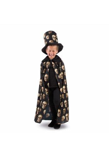 Cape met hoge hoed doodskop Kind