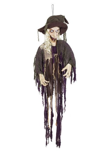 Decoratie Laughing witch - 170 cm