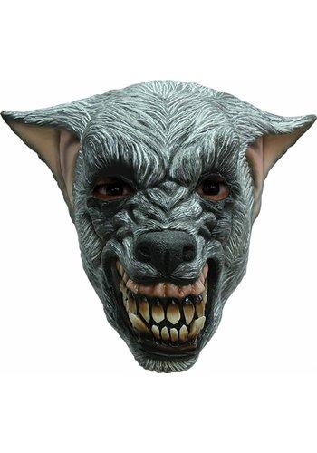Latex Masker Wolf Zilver