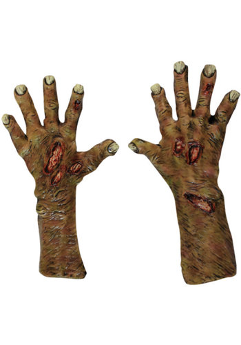 Zombie Undead Large Gloves