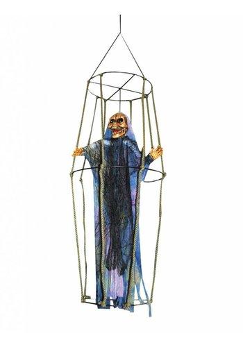 Skelet in kooi met licht, geluid en beweging- 80 CM