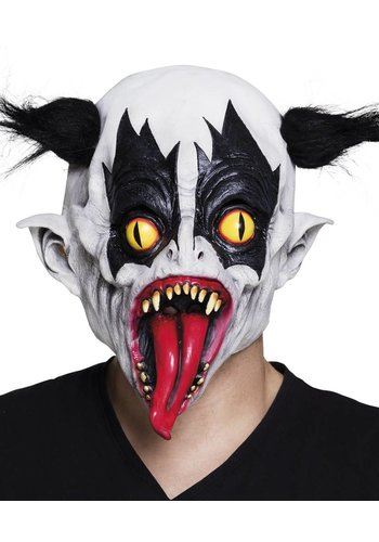 Latex hoofdmasker Evil clown