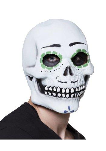 Latex hoofdmasker Señor Calavera